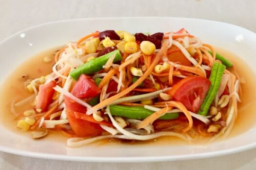 Papaya salad whole grain cereal