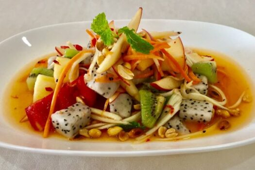 Papaya salad Fruit mix